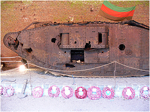 Excavated WW1 Tank at Cambrai